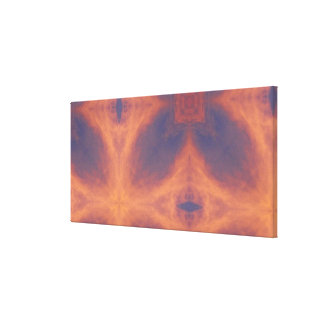 Fiery Skies Kaleidoscope Stretched Canvas Print