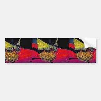 Fiery skipper butterfly on Mexican sunflower Bumper Sticker