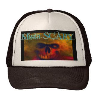Fiery Skull w Mista SCARY Logo Baseball Hat