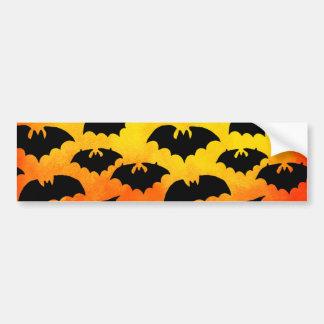 Fiery Sky Full of Bats Bumper Sticker