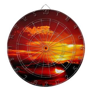 FIERY SKY SUNSET DARTBOARD