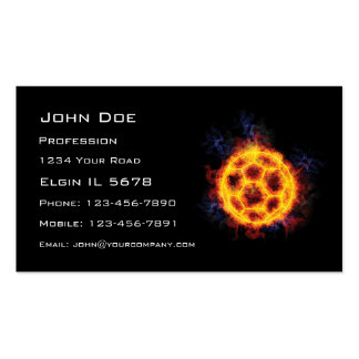 Fiery Soccerball Pack Of Standard Business Cards