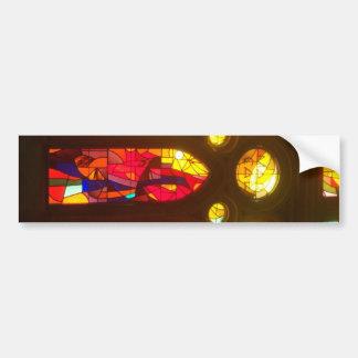 Fiery Stained Glass Windows Bumper Sticker