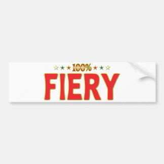 Fiery Star Tag Bumper Stickers