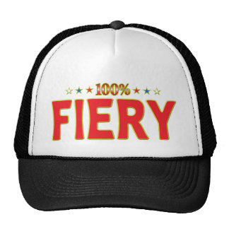 Fiery Star Tag Cap