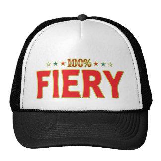 Fiery Star Tag Mesh Hat