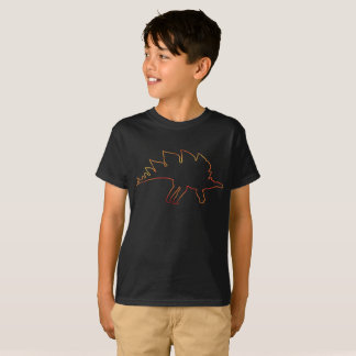 Fiery Stegosaurus Outline T-Shirt