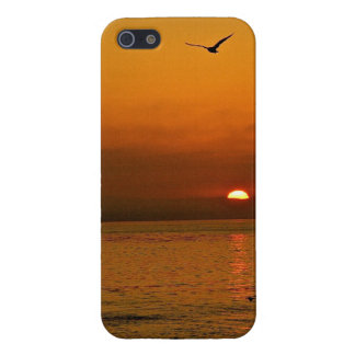 FIERY SUNSET AT THE PACIFIC OCEAN iPhone 5 COVERS