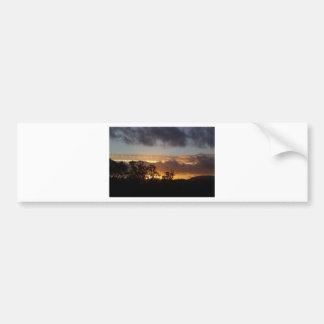 Fiery Sunset Bumper Sticker