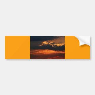 Fiery Sunset Bumper Sticker I