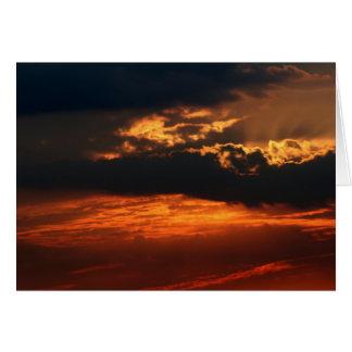 Fiery Sunset H Greeting Card II