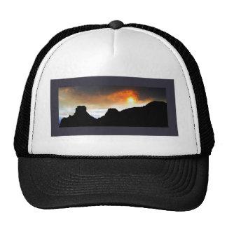 Fiery Sunset Mesh Hat