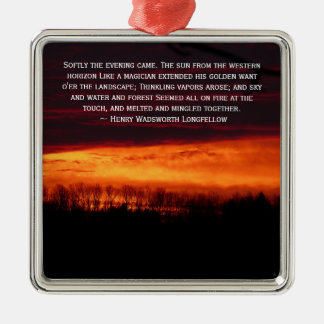 Fiery Sunset In Caribou, Maine Christmas Ornament