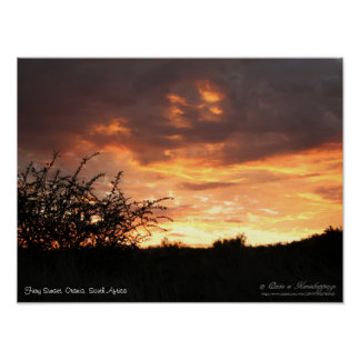 Fiery Sunset Orania, South Africa (1) Poster