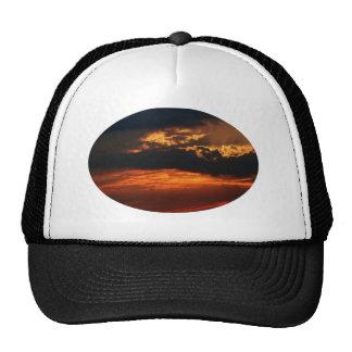 Fiery Sunset Oval Hat