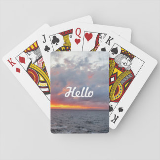 Fiery Sunset Playing Cards