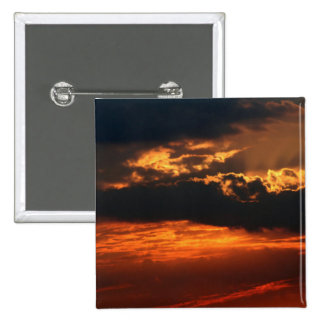 Fiery Sunset Square Button II