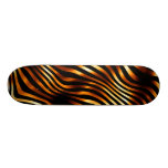 Fiery Tiger Stripes Custom Skate Board