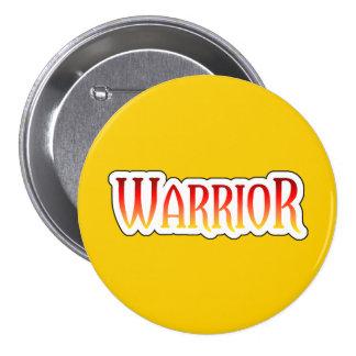 Fiery WARRIOR Yellow Button
