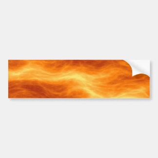 Fiery Water Red Orange and Yellow Background Bumper Sticker