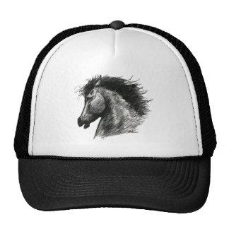 Fiery Wild Horse Trucker Hats