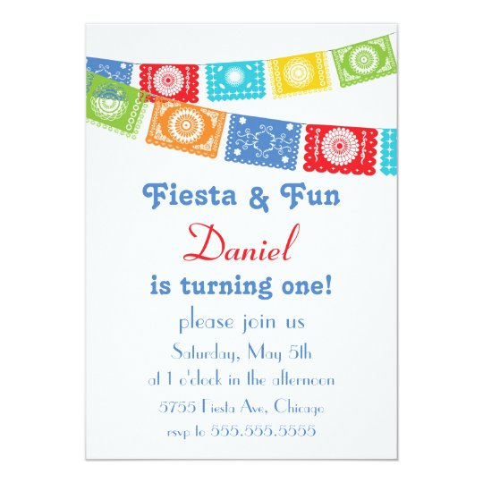 Fiesta and Fun Birthday Invitation