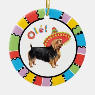 Fiesta Australian Terrier Round Ceramic Decoration