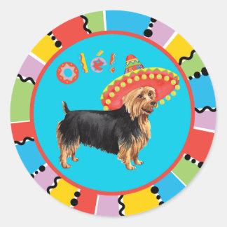 Fiesta Australian Terrier Round Sticker