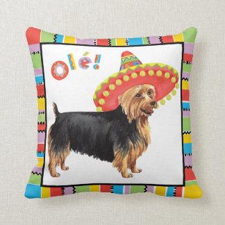 Fiesta Australian Terrier Throw Pillow