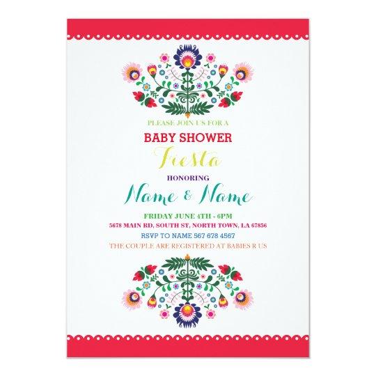 Fiesta Baby Shower Mexican Girl Boy Bright Invite