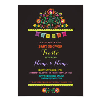 Fiesta Baby Shower Mexican Girl Boy Floral Invite