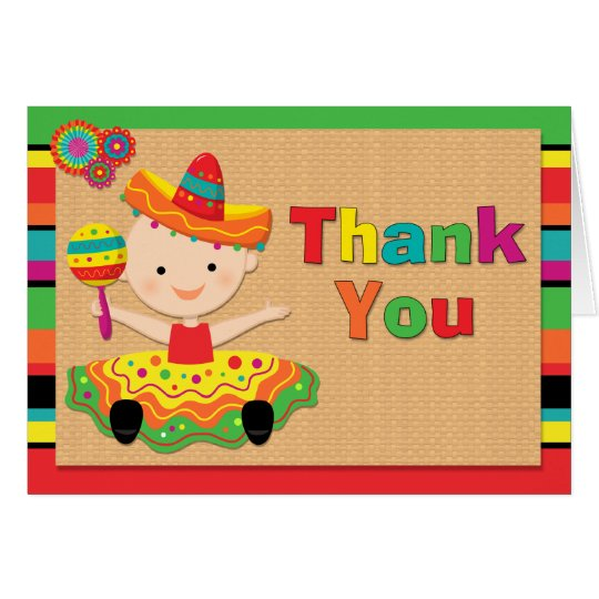 Fiesta Baby Shower Thank You Card
