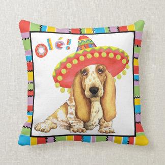 Fiesta Basset Throw Pillow