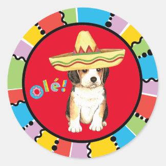 Fiesta Beagle Round Sticker