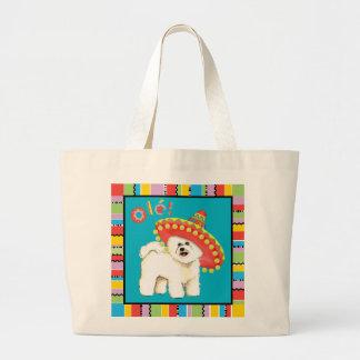 Fiesta Bichon Large Tote Bag