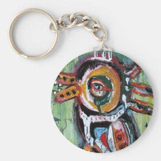 Fiesta Bird Basic Round Button Key Ring