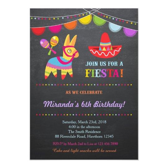 Fiesta Birthday Invitation / Fiesta Invitation