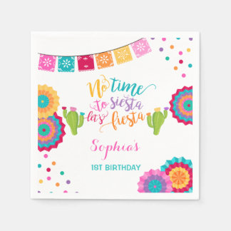 Fiesta Birthday Party Napkin Mexican Fiesta Party Disposable Serviette