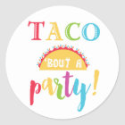 Fiesta Birthday Taco Bout A Party Favour Stickers