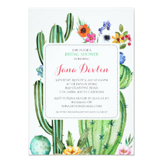 "Fiesta Bridal Shower Invitation 5""x7"" Southwest"