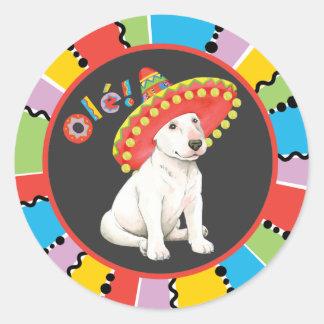 Fiesta Bull Terrier Round Sticker