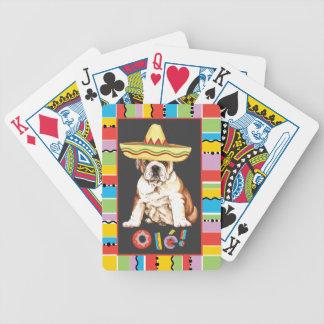 Fiesta Bulldog Bicycle Playing Cards