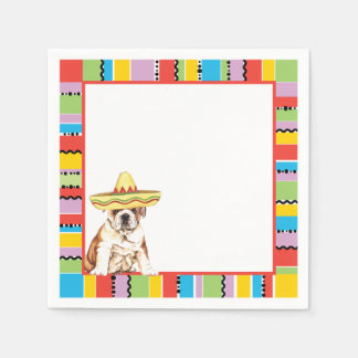 Fiesta Bulldog Paper Napkin