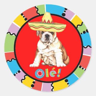 Fiesta Bulldog Round Sticker