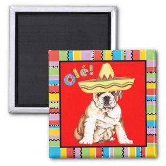 Fiesta Bulldog Square Magnet