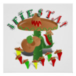 Fiesta Cactus w/Sombrero & Guitar