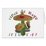 Fiesta Cactus w/Sombrero & Guitar Greeting Card
