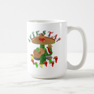 Fiesta Cactus w/Sombrero & Guitar Classic White Coffee Mug
