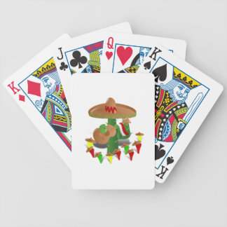Fiesta Cactus with Guitar & Dancing Peppers Bicycle Playing Cards