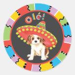 Fiesta Cavalier Round Stickers